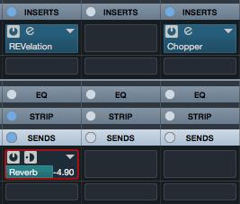 La nuova visualizzazione statica dei plugin in insert e nelle mandate