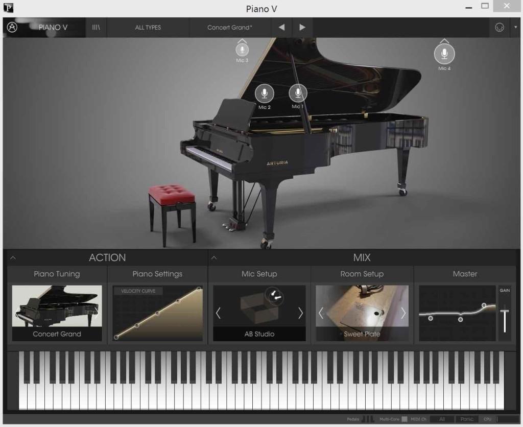 La simulazione di pianoforte acustico Piano V