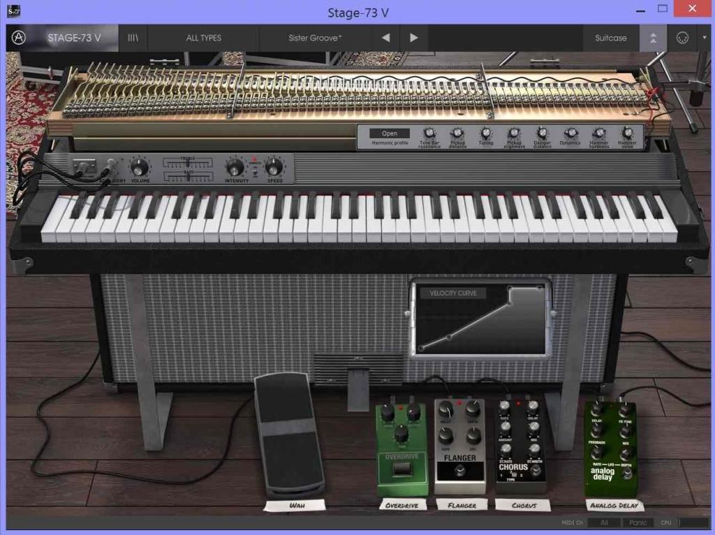 Lo Stage 73 V nella variante Suitcase, scoperchiato per accedere alle funzioni di editing aggiuntivo