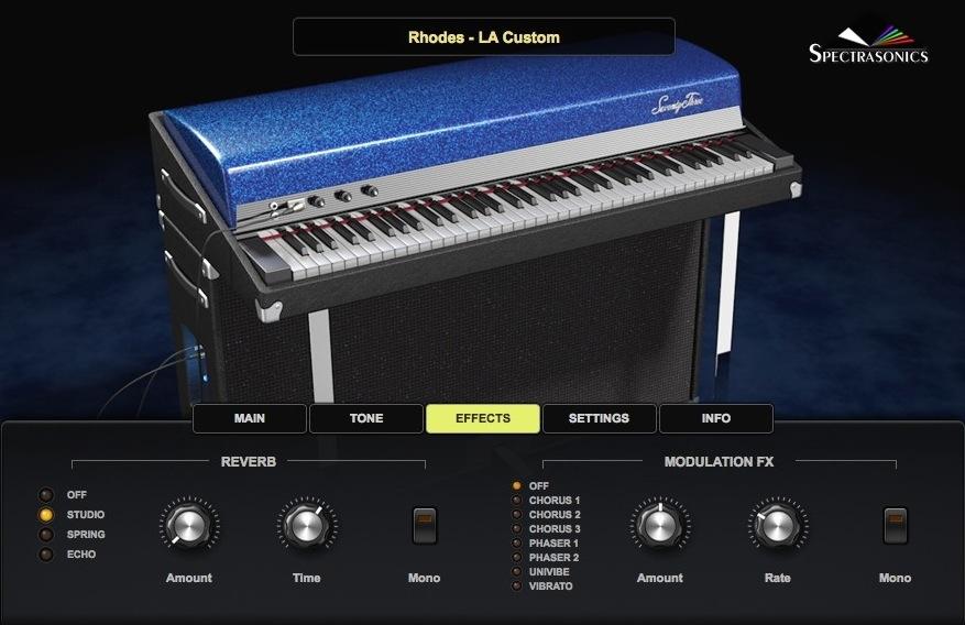 03 Il Rhodes LA Custom, destinato a diventare un hit di Keyscape per l'eccellesa qualità timbrica