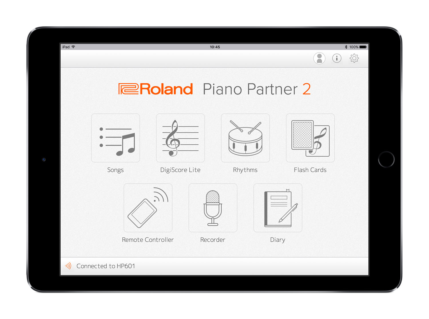 Roland_Piano_Partner_2_Main_Screen