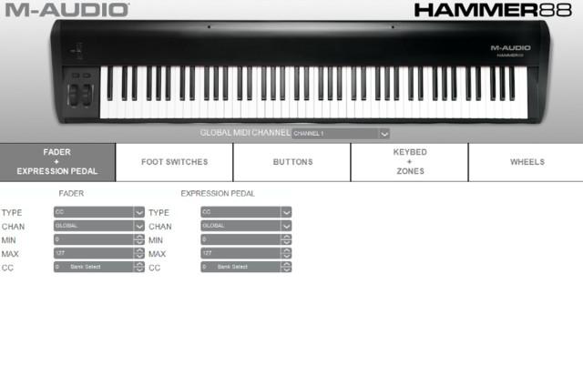 L'editor software della Hammer 88