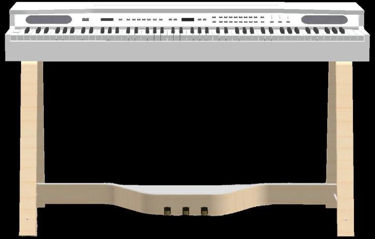 La prima versione dell'RP850 con l'esteso pannello comandi sopra la tastiera