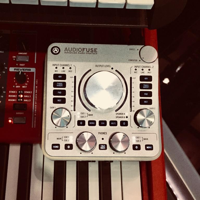 L'interfaccia Arturia Audiofuse impiegata nella parte software del setup di Maurizio Campo