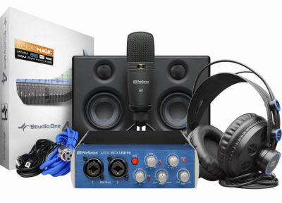 PreSonus AudioBox Studio Ultimate Bundle hardware cuffia interfaccia audio monitor microfono