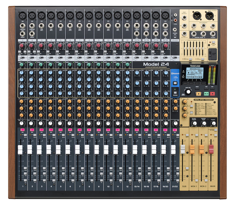 Tascam Model24 mixer live studio analog digital