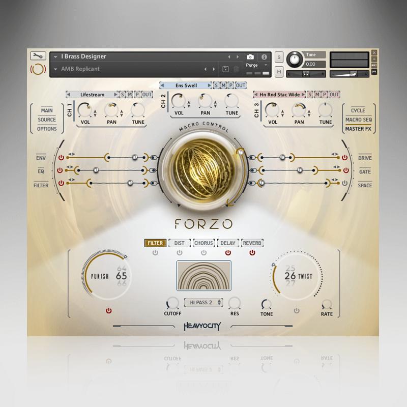 Heavyocity Forzo brass ottoni orchestra music producer virtual kontakt