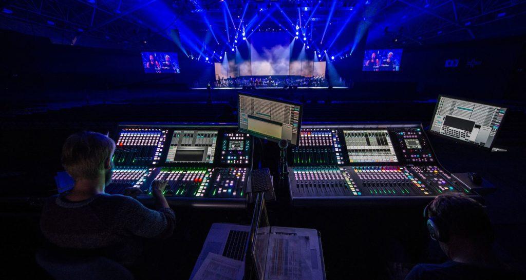 SSL L500 live console mix