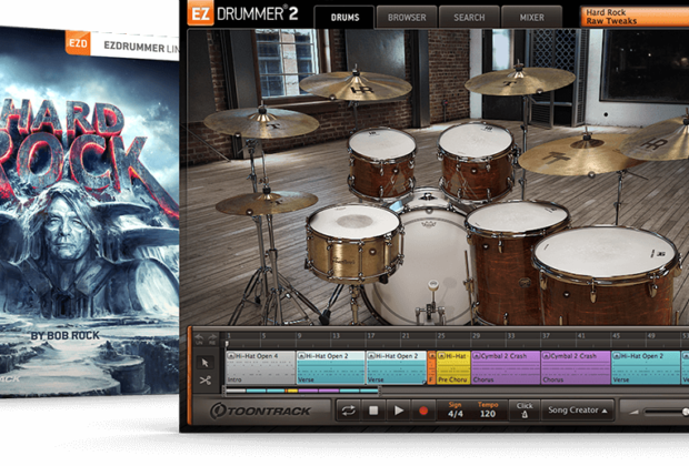 Toontrack Hard Rock EZX espansione drums virtual bob rock