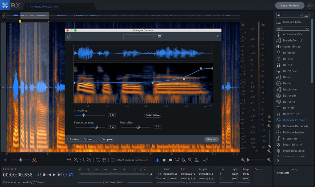 iZotope RX 7 post produzione software virtual audio