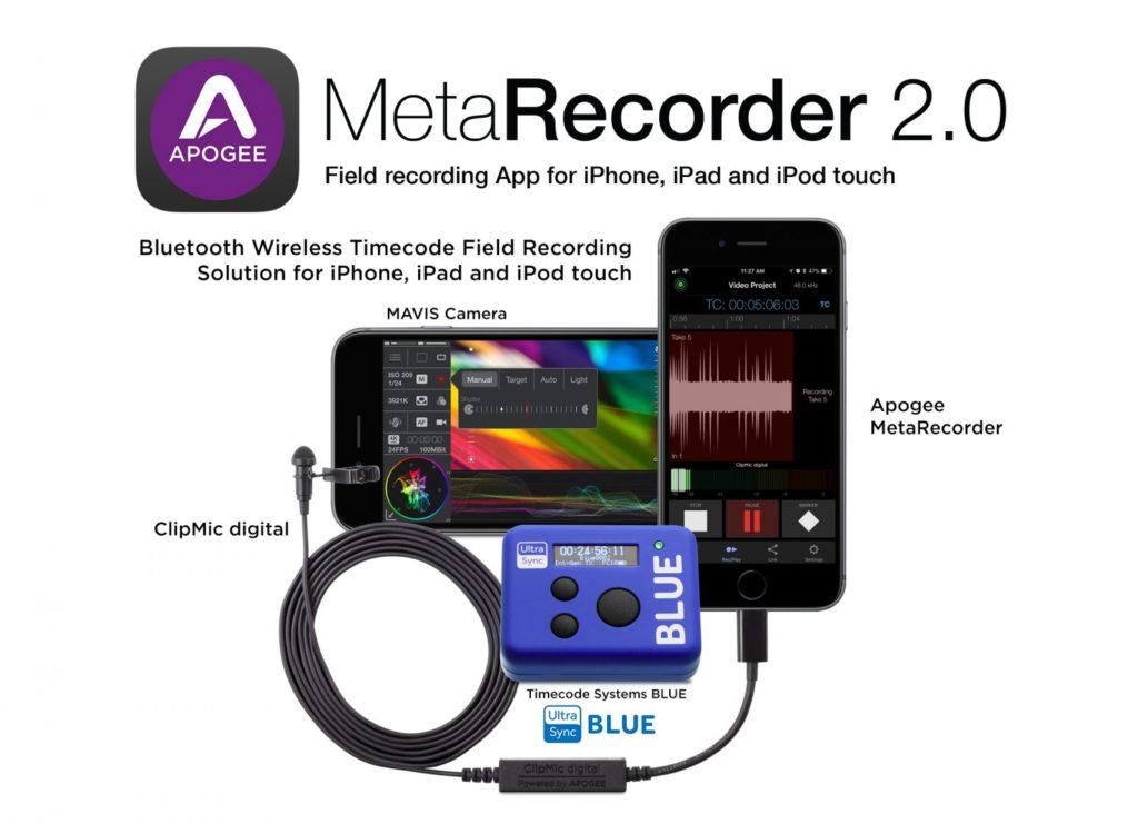 Apogee Metarecorder 2.0 app virtual record vide