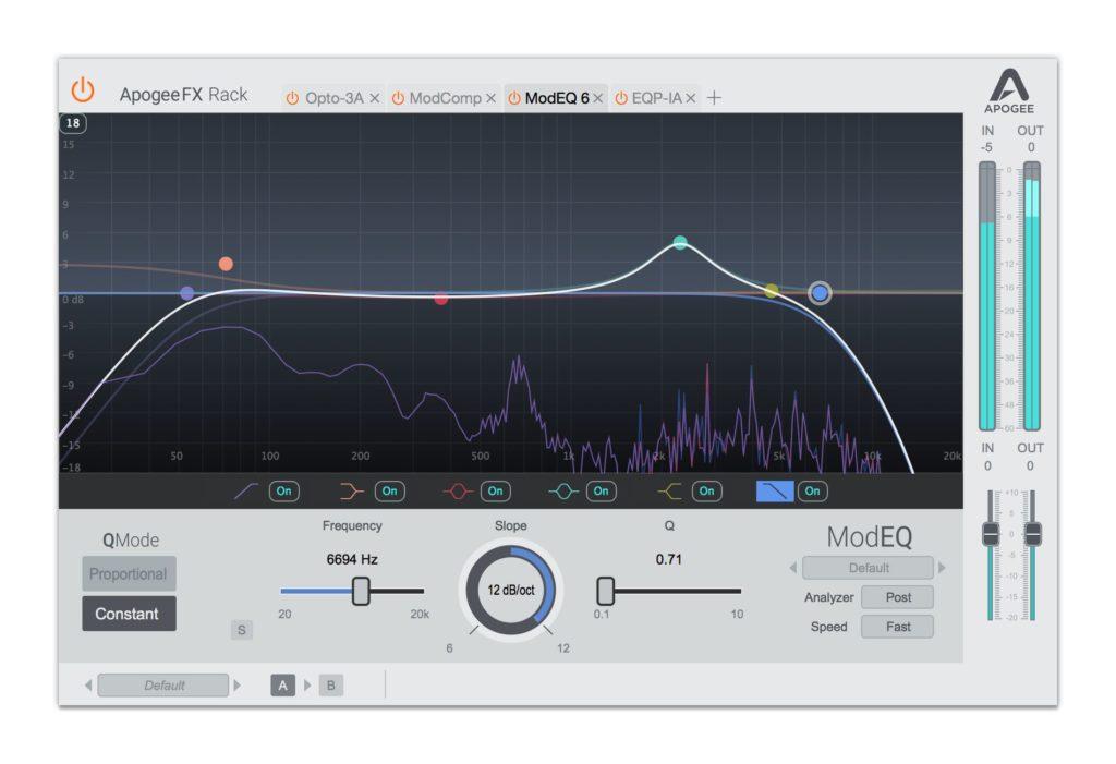 modeq Apogee FX Rack plug-in audio daw fx eq modern software