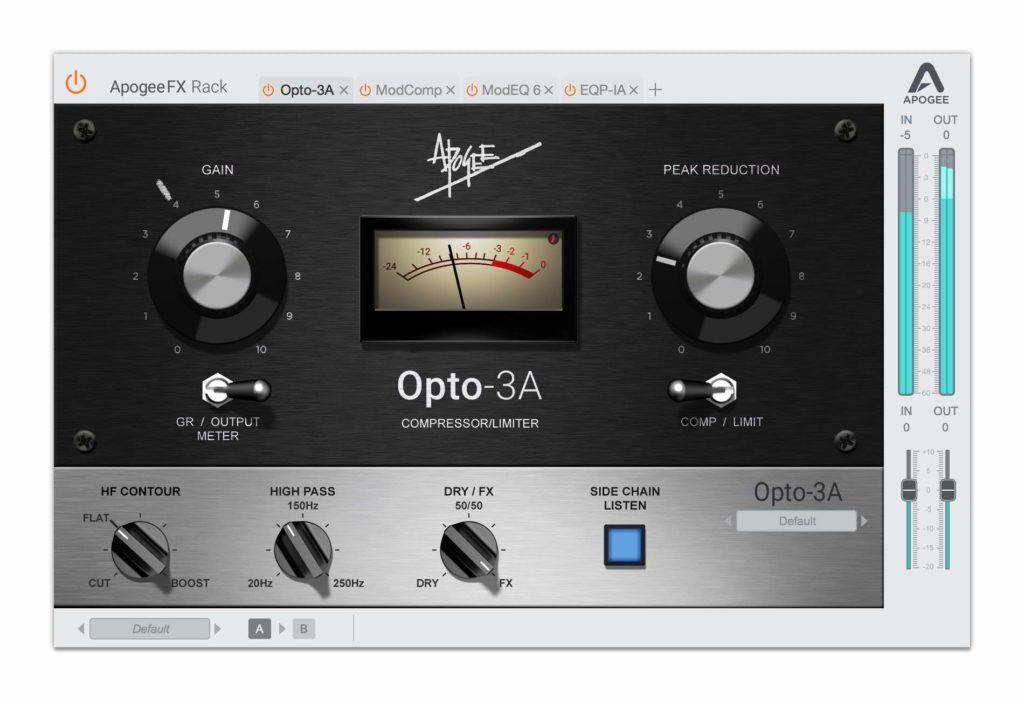 teletronix Opto-3A LA-3A Apogee FX Rack plug-in audio daw fx comp vintage software