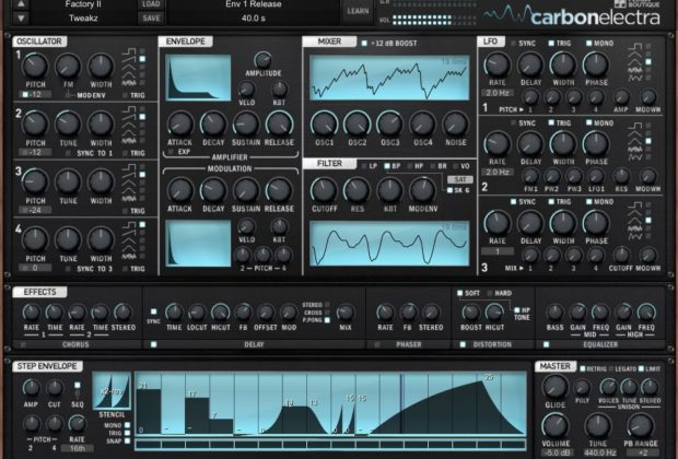 Carbon Electra 1.5 virtual synth instrument