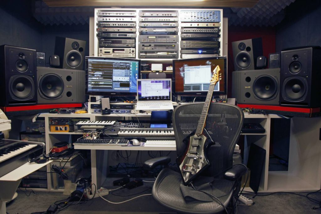 studio di registrazione tastiere