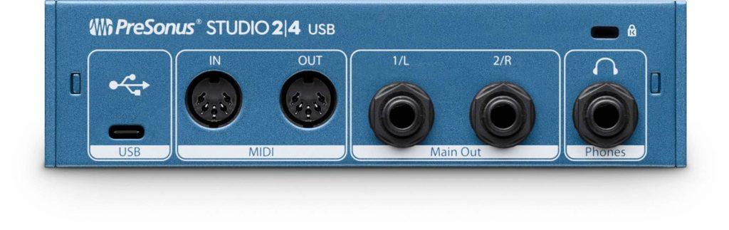 PreSonus Studio 2|4 usb-c interfaccia audio midi music