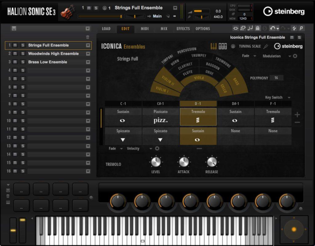 Steinberg Iconica virtual orchestra instrument score soundtrack