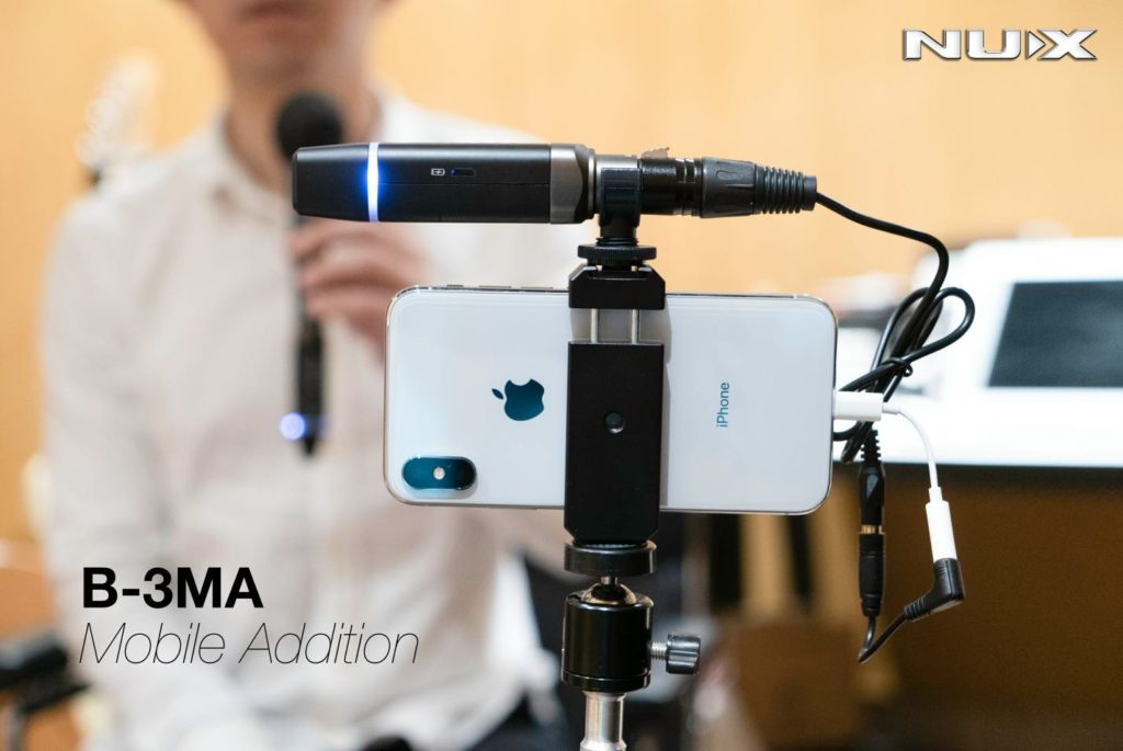 Nux B-3MA wireless mic live frenexport