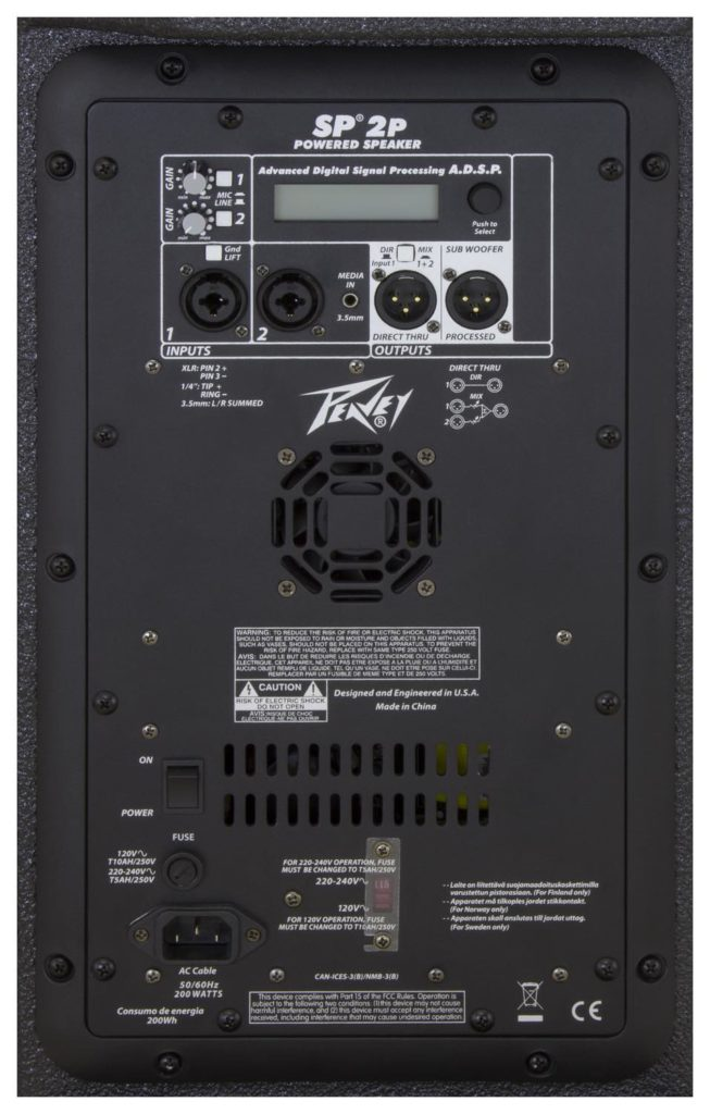 Peavey SP 2P live pa system audio pro