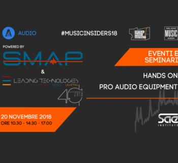 SMAP evento SAE Institute milano music week 2018