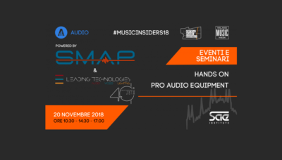 SMAP evento SAE Institute milano music week 2018