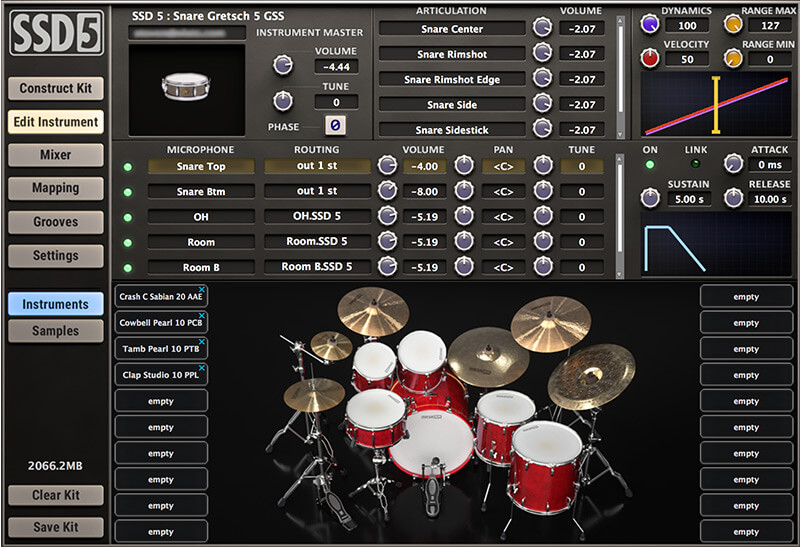 Steven Slate Drums 5 virtual instrument drums batteria