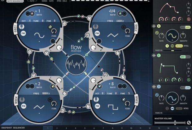 Waves Flow Motion FM synth virtual instrument sintetizzatore