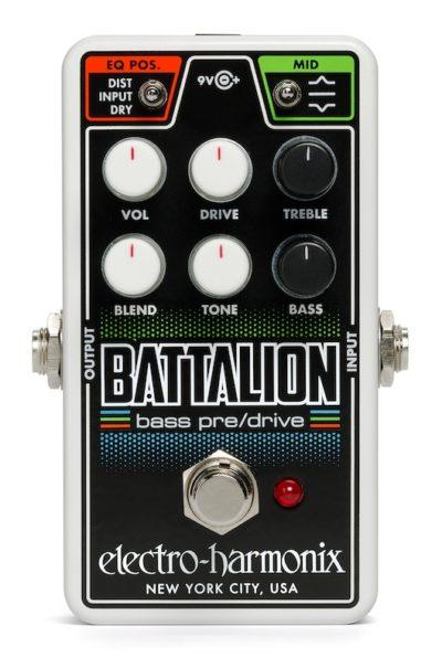 EHX nano battalion bass pedalino pedale electro harmonix pre overdrive