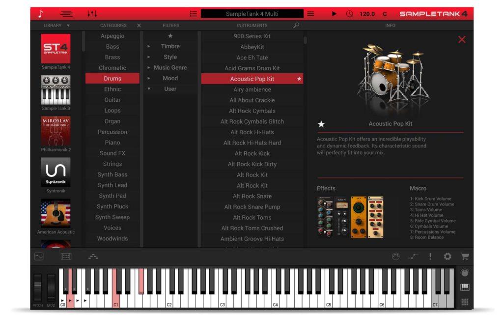 Ik Multimedia SampleTank 4 virtual instrument sample library