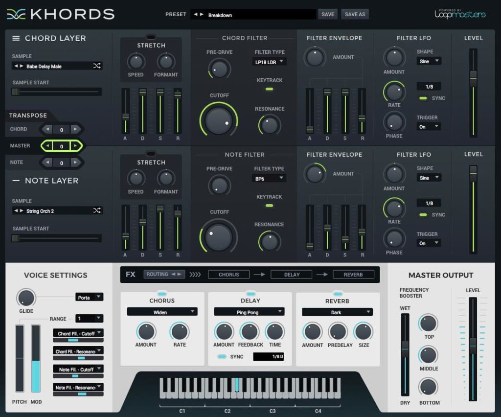 Loopmasters Khords synth virtual instrument