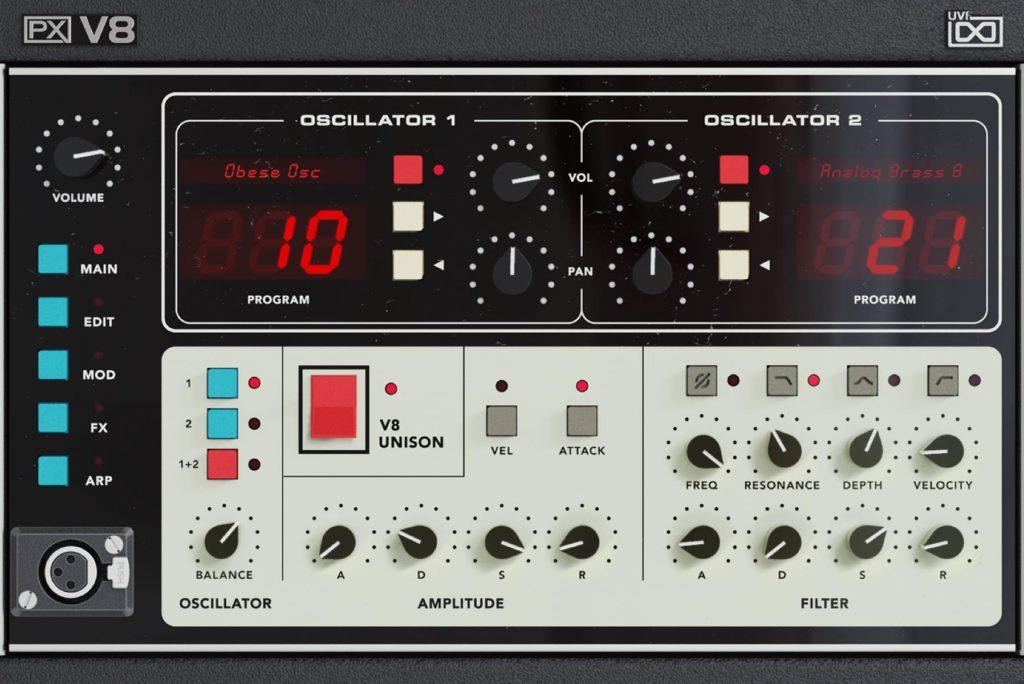 UVI PX-V8 virtual instrument synth