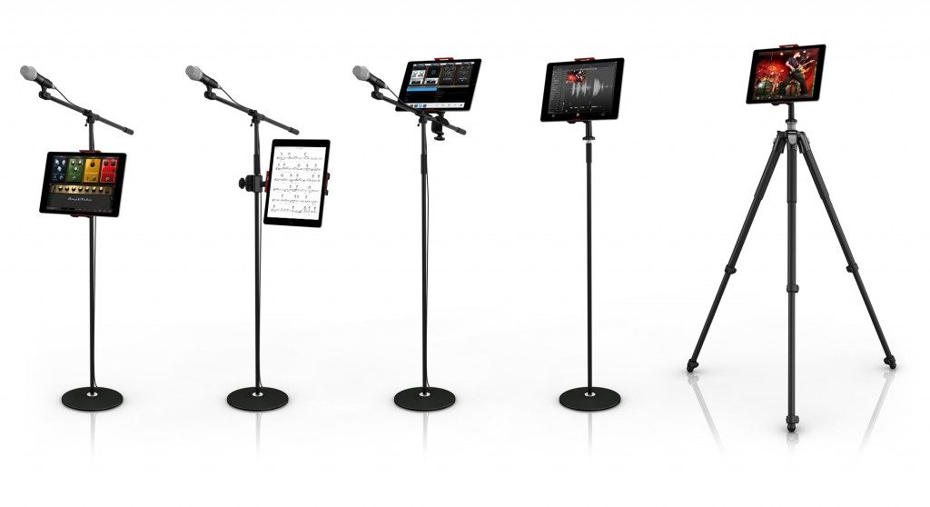 Ik Multimedia iKlip 3 mogar music supporto mic studio live tablet strumenti musicali