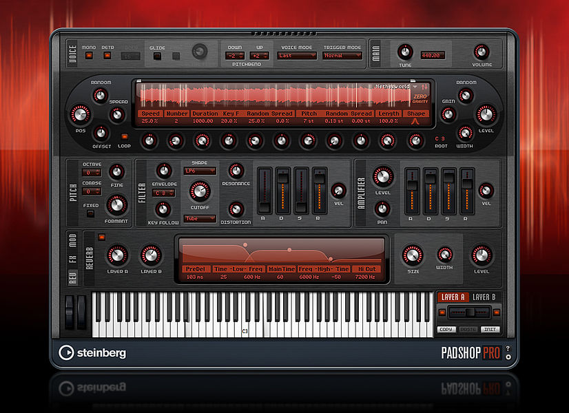 Steinberg Padshop Pro synth virtual sintetizzatore instrument granulare strumenti musicali