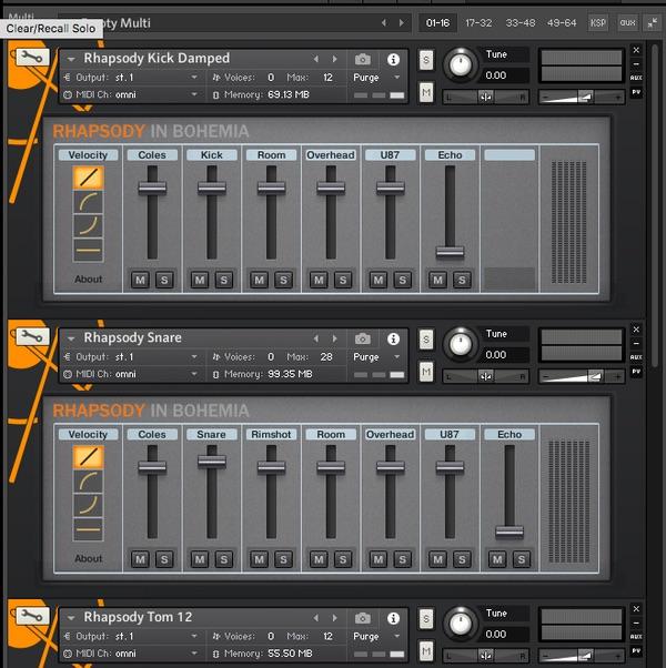 Rhapsody In Bohemia drumkit kontakt native instruments studio rec mix production strumenti musicali