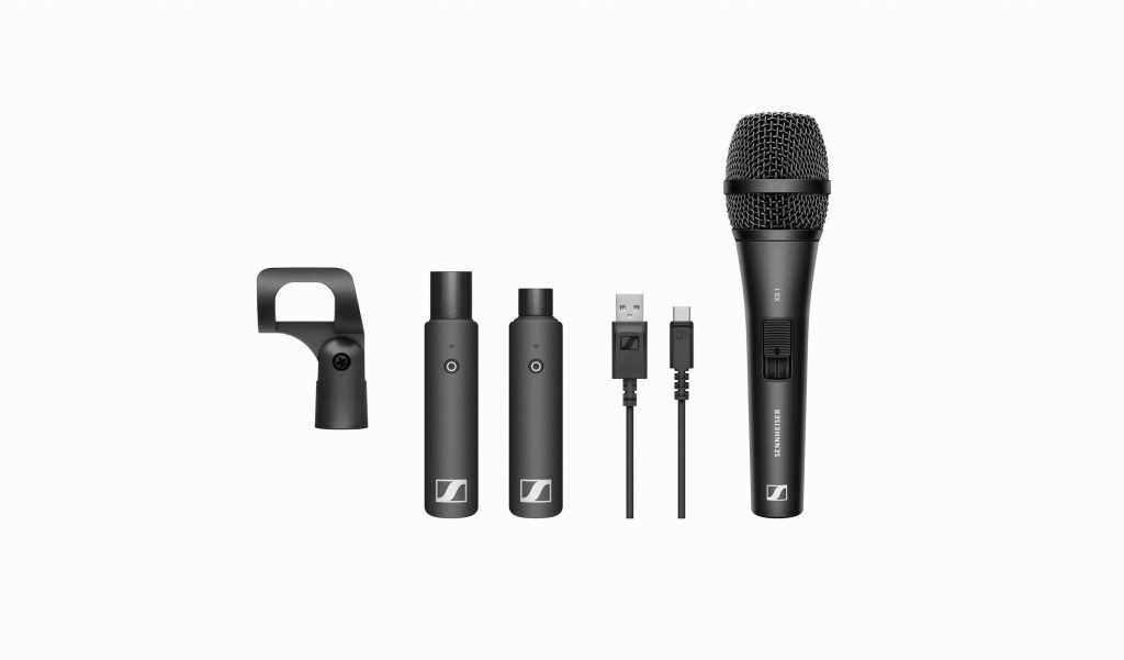 Sennheiser XS Wireless Digital live mic exhibo audiofader