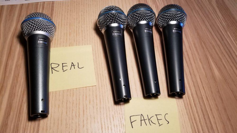 microfoni shure falsi strumenti musicali