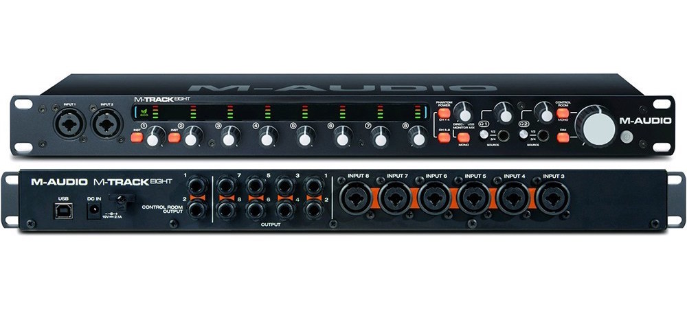 M-Audio M-track-eight interfaccia audio rec studio home soundwave strumenti musicali
