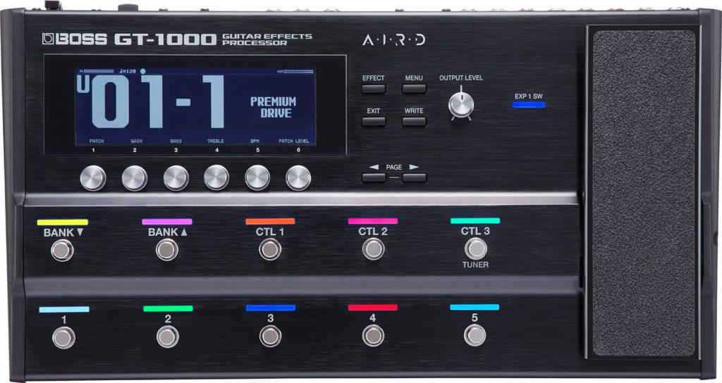 BOSS GT-1000 chitarra elettrica basso guitar multieffetto fx update aggiornamento strumenti musicali