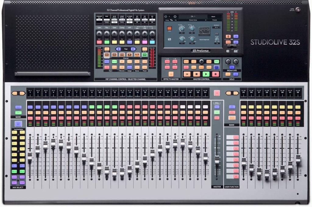 PreSonus Studiolive 32S mixer live hardware digital midi music strumenti musicali