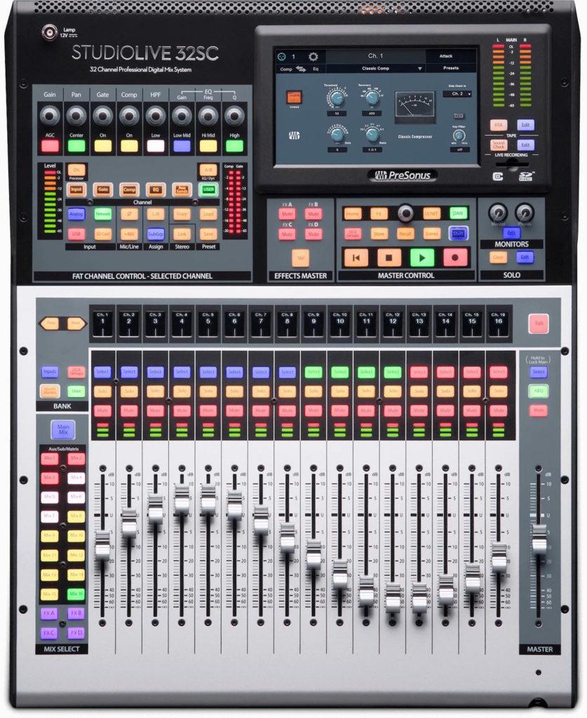 PreSonus Studiolive 32SC mixer live hardware digital midi music strumenti musicali