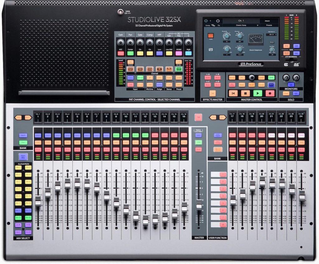 PreSonus Studiolive 32Sx mixer live hardware digital midi music strumenti musicali