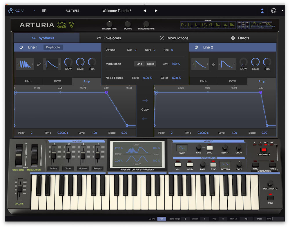 Arturia V-Collection 7 bundle software virtual instrument synth midiware strumenti musicali