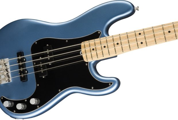 Fender American Performer Precision Bass Satin Lake Placid Blue basso elettrico bass strumenti musicali