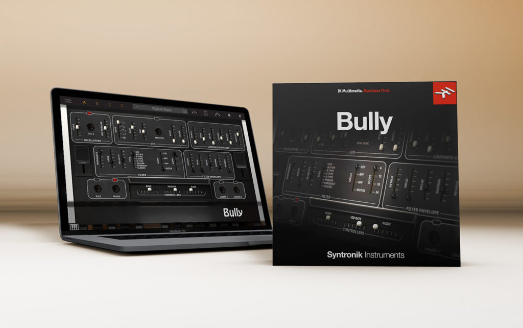 Ik Multimedia Syntronyk Bully virtual synth instrument analog producer strumenti musicali