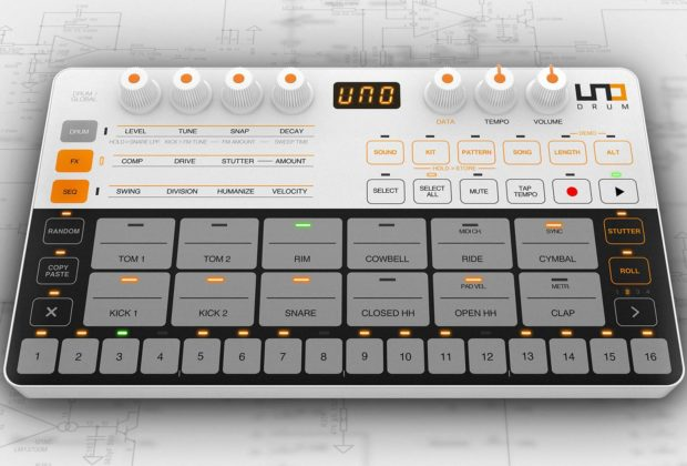 Ik Multimedia UNO Drum digital drumkit producer mogar strumenti musicali