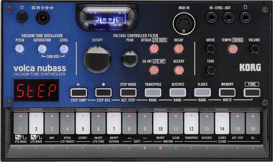 Korg Volca Nubass synth hardware tube valvola analog eko music group strumenti musicali