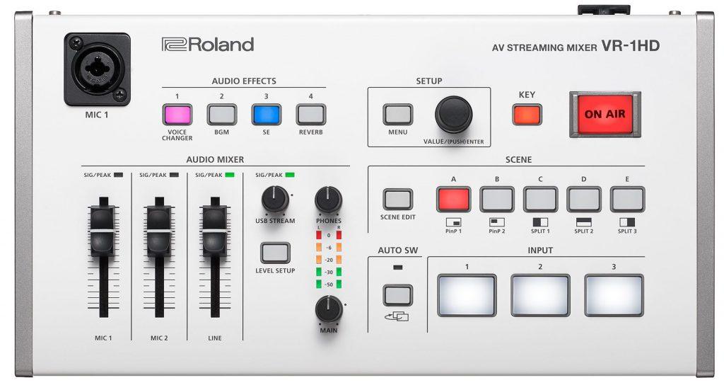 Roland VR-1HD MiR 2019 eventi fiera music inside video AV pro audiofader
