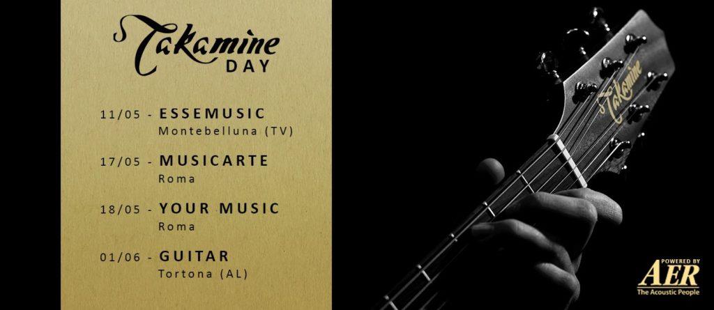 Takamine Day Tour 2019 chitarra acustica eventi music life gold music strumenti musicali