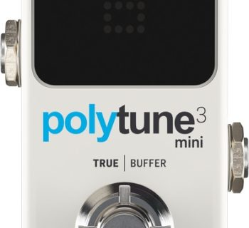 Tc Electronic PolyTune 3 Mini tuner stomp pedalino pedale fx music group strumenti musicali