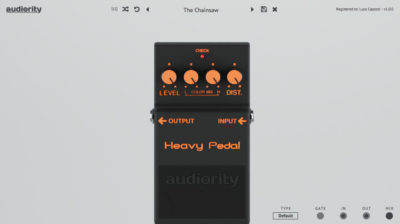 Audiority HeavyPedal software plug-in audio distortion stomp pedale daw virtual strumenti musicali